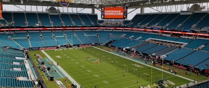 Hard Rock Stadium Section 308 - Miami Dolphins with Miami Hard Rock Stadium
