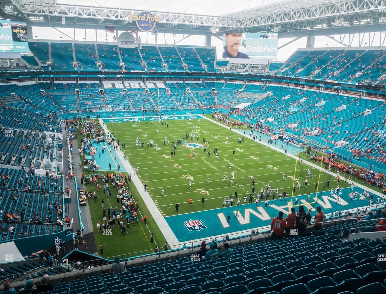 Hard Rock Stadium Section 336 Seat Views   Seatgeek inside Miami Dolphins Stadium On Map