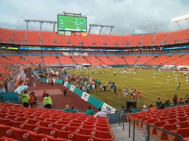 Hard Rock Stadium, Section Old 134, Row 14, Seat 1 - Miami inside Miami Dolphins Stadium Layout