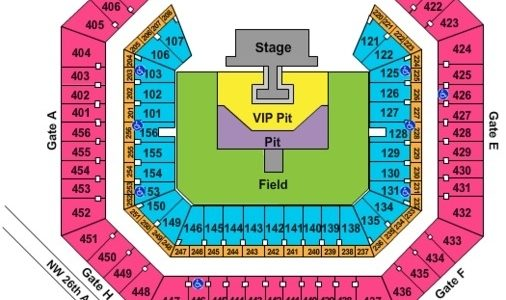 Hard Rock Stadium Tickets In Miami Gardens Florida, Hard with regard to Miami Open Stadium Map