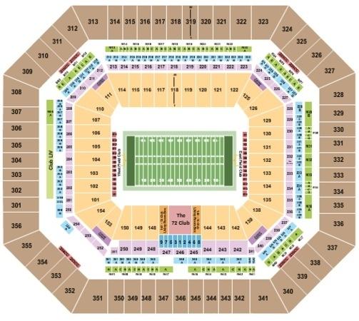 Hard Rock Stadium Tickets In Miami Gardens Florida, Hard within Hard Rock Stadium Miami Seat Map