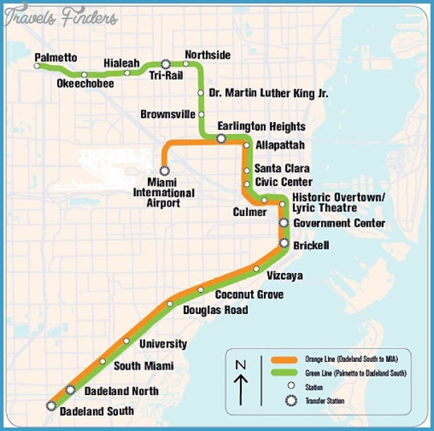 Hialeah Metro Map - Travelsfinders within Miami Airport Train Station Map