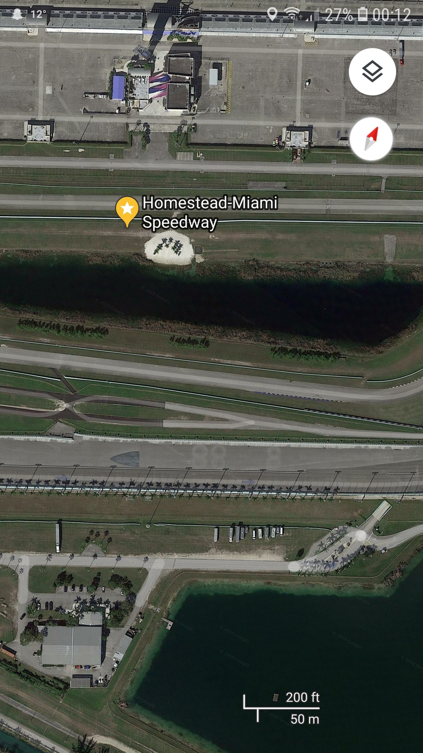 Homestead Miami Speedway'S Satellite Image On Google Earth for Miami Map Google Earth