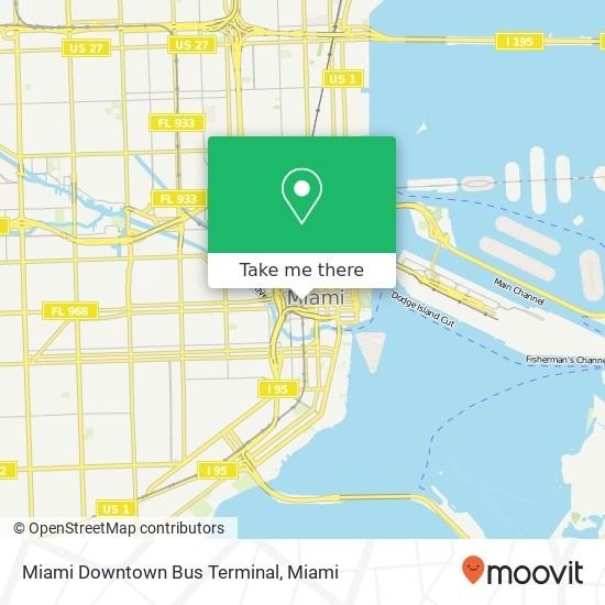 How To Get To Miami Downtown Bus Terminal In Miamibus with regard to Miami Bus Map