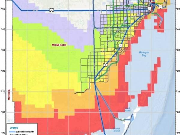 Hurricane Irma: Miami Beach Best Evacuation Routes - Miami with regard to Miami Dade Evacuation Map