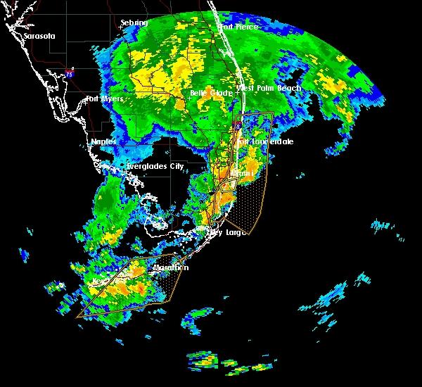 Interactive Hail Maps - Hail Map For Miami, Fl regarding Miami Weather Map Today