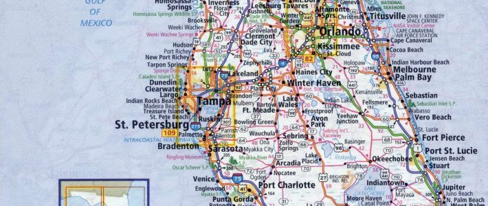 Large Detailed Roads And Highways Map Of Florida State regarding Miami Florida City Map
