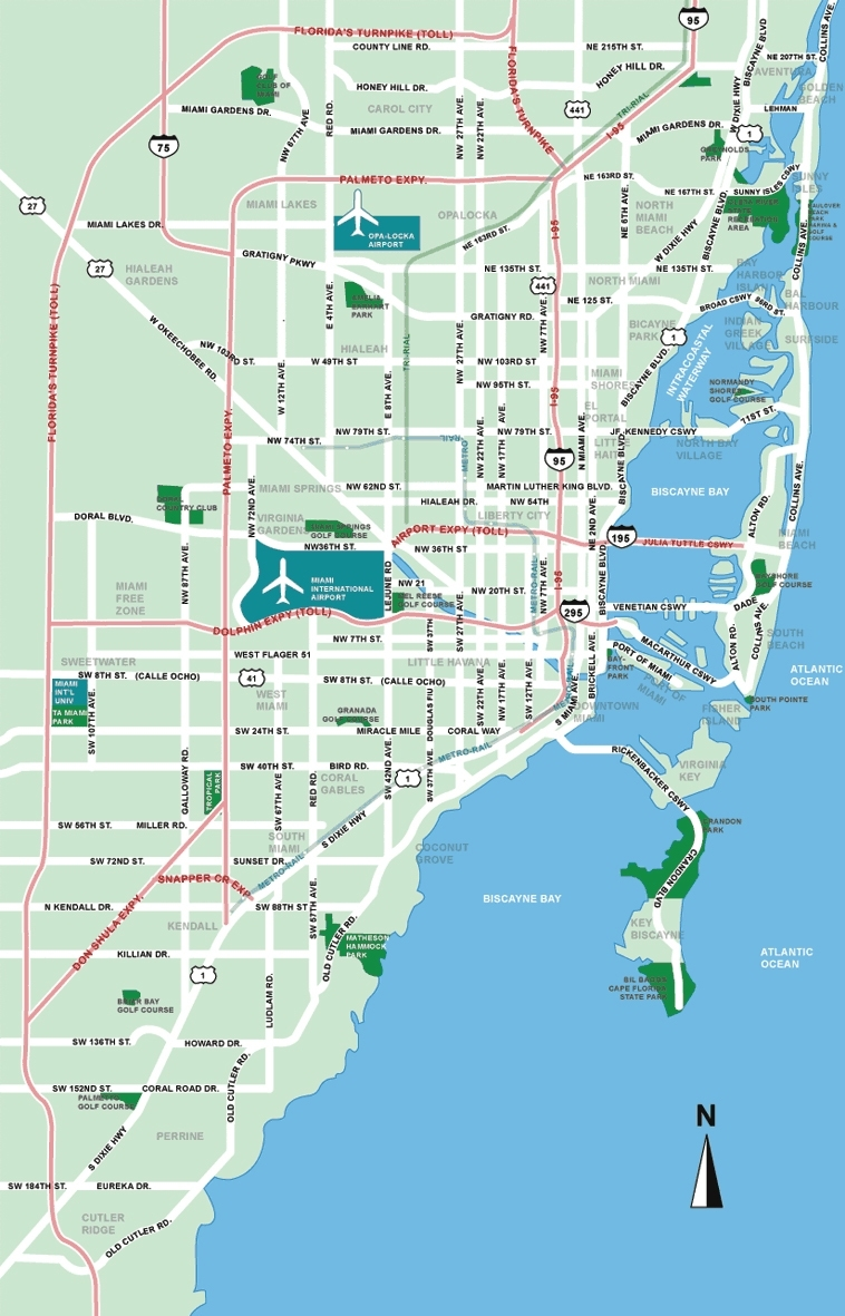 Large Miami Maps For Free Download And Print   High pertaining to Miami And South Beach Map