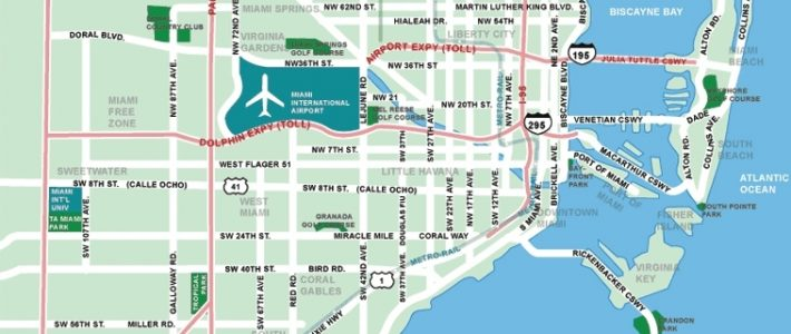 Large Miami Maps For Free Download And Print | High with regard to Miami Beach South Map