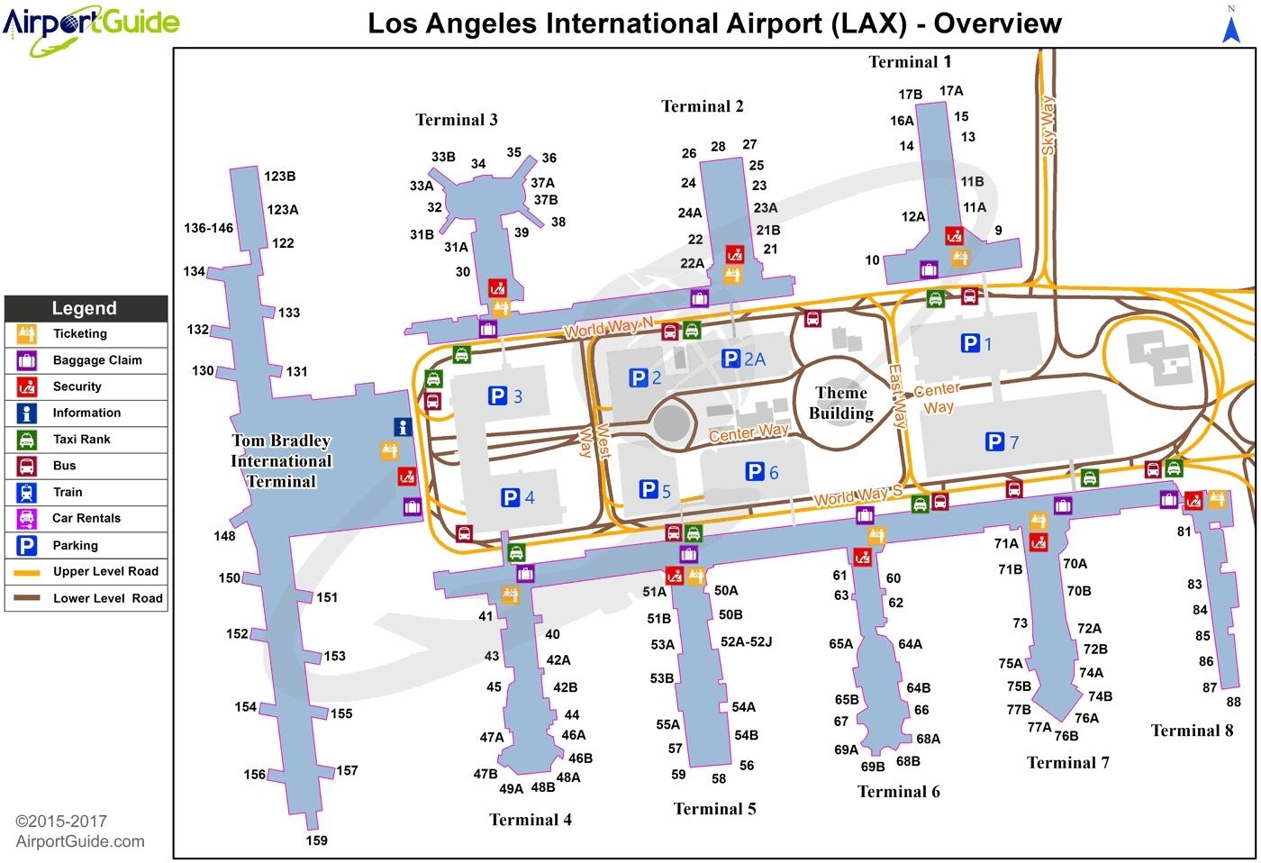 Lax Terminal Map - Pinotglobal regarding Miami Terminal N Map