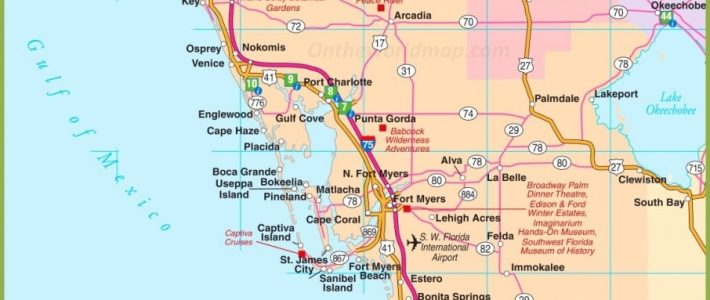 Locate Miromar Lakes, Florida - Just North Of Naples And with Map Of South Miami Florida