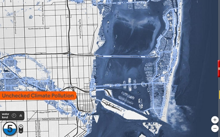 Look How Much Of Your City Will Be Underwater2100 (So regarding Miami Beach Sea Level Rise Map