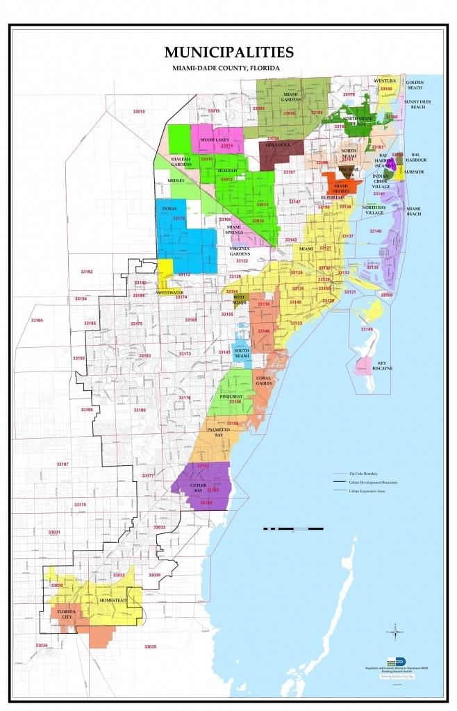 Map Of Dade County Florida | Printable Maps for Mapa De Miami Con Zip Codes