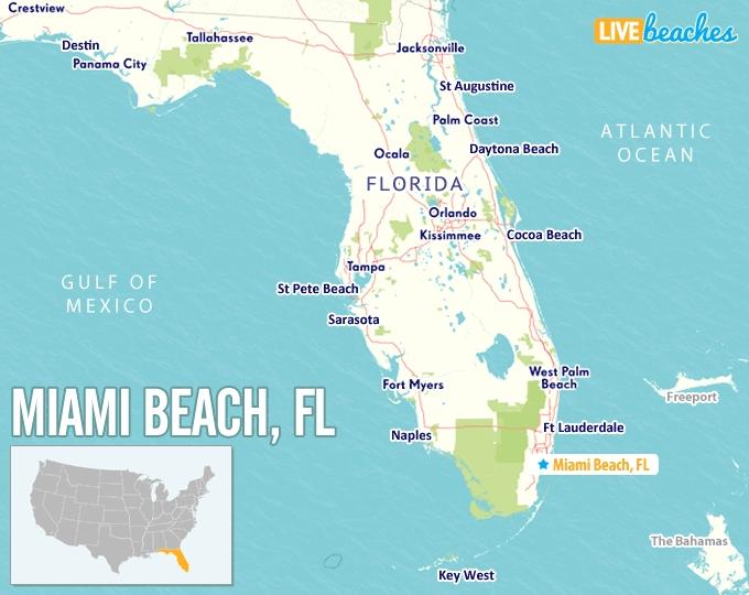 Map Of Miami Beach, Florida - Live Beaches within Miami South Beach Address Gps