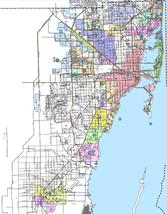 Map Of Miami Dade County - Maps For You with Miami Dade County Zip Code Map