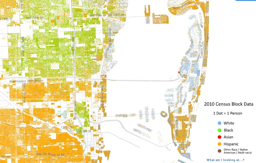 Map Of South Florida Shows How Racially Segregated We Are with regard to Miami Beach Elevation Map