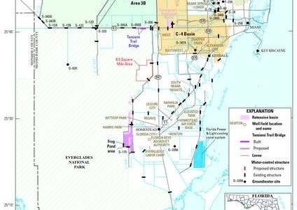 Map Showing Location Of The Study Area, Miami-Dade County pertaining to Map Of Miami Dade County Florida