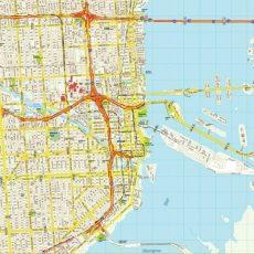 Mapa De Miami   Turismoeeuu   Plano, Condados, Calles regarding Mapa De La Ciudad De Miami