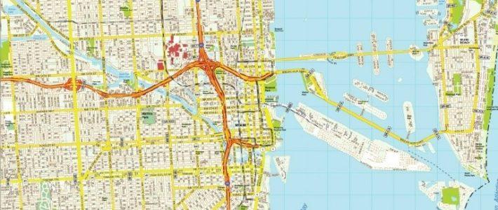 Mapa De Miami | Turismoeeuu | Plano, Condados, Calles regarding Mapa De La Ciudad De Miami