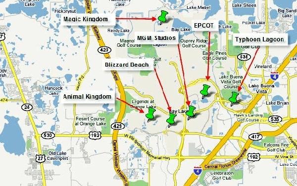 Mapa De Orlando Ubicacion De Parques | Para Viajar, Para throughout Mapa De Estados Unidos Miami Orlando