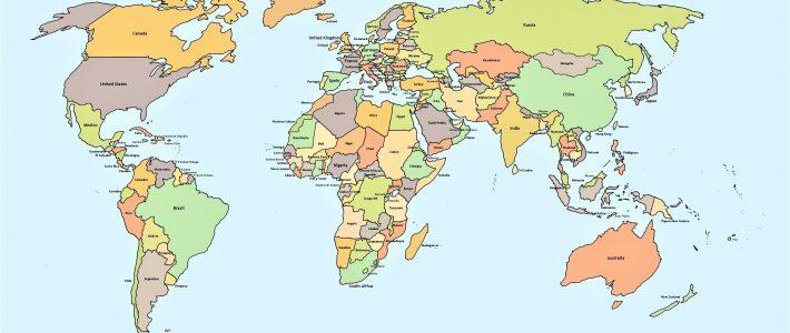 Mapamundi Político Para Imprimir 】Con Nombres | Mudo | En within Mapa Miami Para Imprimir