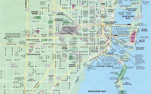 Mapas De Miami - Eua | Mapasblog throughout Mapa De Miami Florida