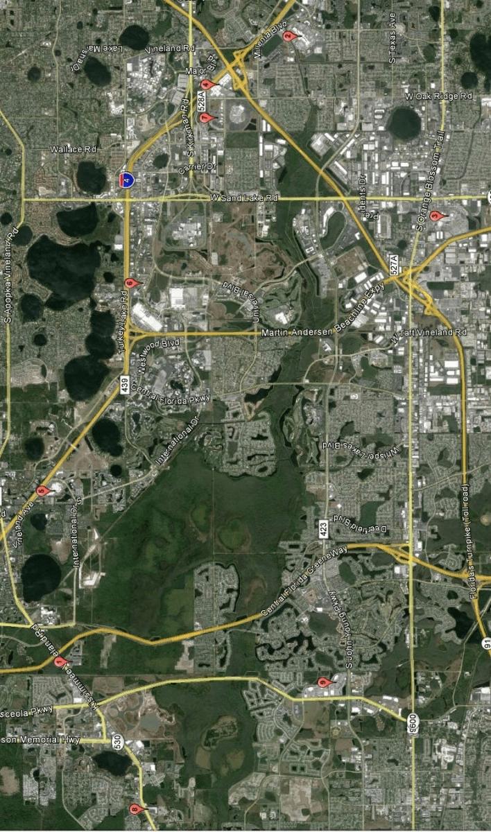 Mapas Dos Outlets De Orlando - Blog Um Dia Em intended for Onde Fica Miami No Mapa