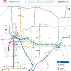 Metro Map Minneapolis   Time Zones Map in Miami Rail Transit Map