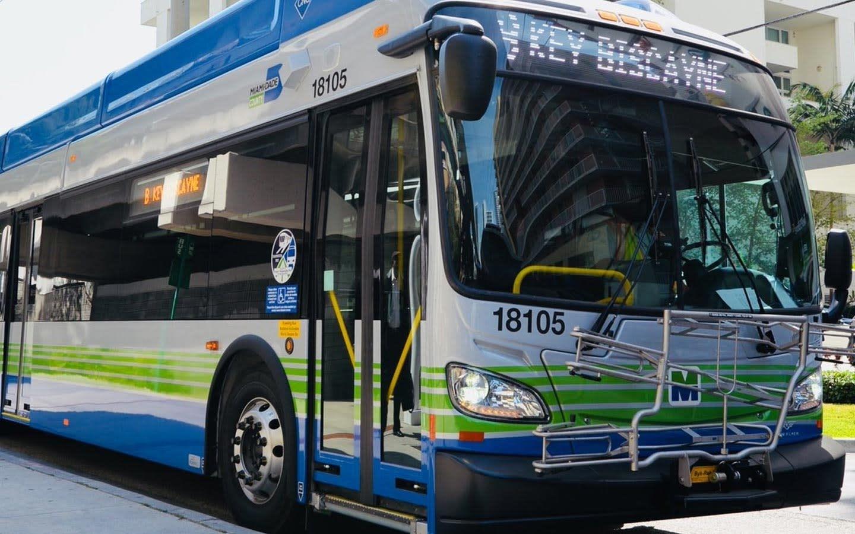Metrobus In Downtown Miami Area/Brickell Area, Fl with Miami Dade Bus Routes Map