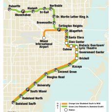 Metrorail : Miami U-Bahn-Karte , Vereinigte Staaten With inside Miami Dade Metro Bus Map