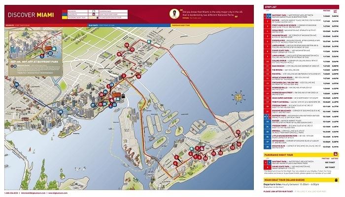 Miami Attractions Map   Free Pdf Tourist Map Of Miami regarding Miami Metro Bus Map