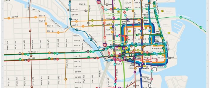 Miami Beach Bus Routes Map - Ustrave for Miami Dade Transit Map And Schedule