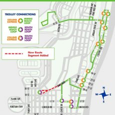 Miami Beach Bus Routes Map within Miami And South Beach Map