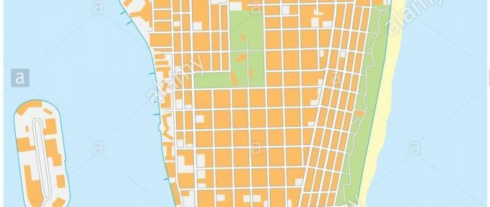 Miami-Beach Detailed Vector Street Map, Florida Stock for Miami Beach Area Map