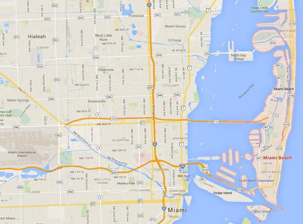 Miami Beach Florida Map regarding City Of North Miami Beach Map