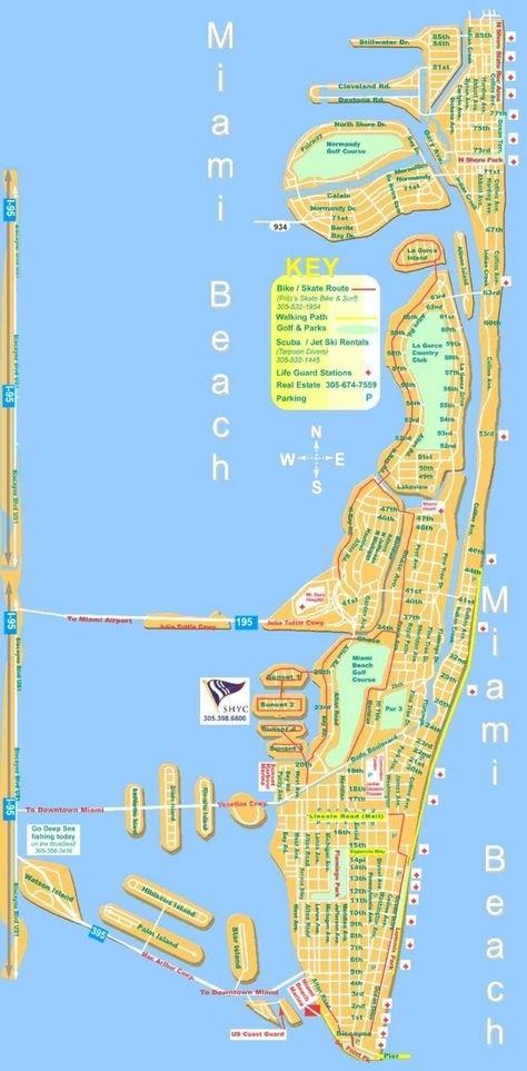 Miami Beach Mapa - Mapa De Miami Beach (Florida - Usa inside Mapa De Miami Florida