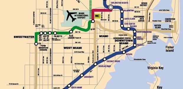 Miami Dade County Rail Expansion Proposals. (Miami Metro inside Miami Beach Trolley Map