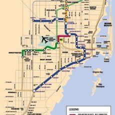 Miami Dade County Rail Expansion Proposals. (Miami Metro throughout North Miami Beach Map