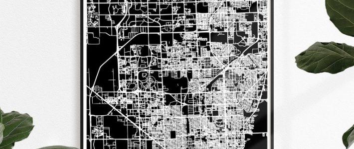 Miami Gardens Map Print Map Print Miami Gardens City Print regarding Map Miami Gardens Florida