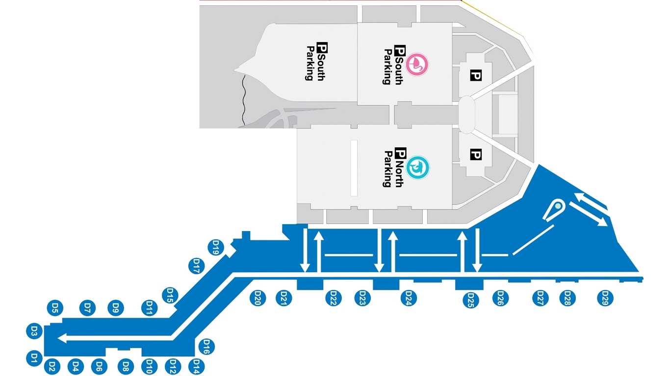 Miami International Airport Map Terminal N with regard to Miami International Airport Terminal Map American Airlines