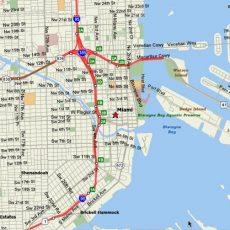 Miami Map in Miami South Beach Street Map