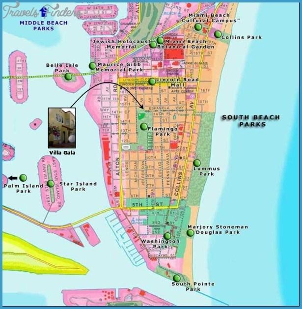 Miami Map Tourist Attractions - Travelsfinders in Mapa Zip Code Miami