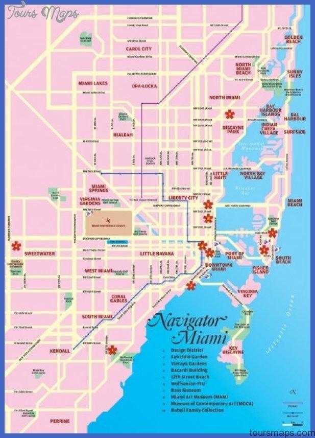 Miami Map - Toursmaps with Mapa Turistico Miami Florida