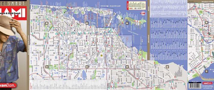 Miami Mapvandam | Miami Streetsmart Map | City Street in Miami Beach Neighborhood Map
