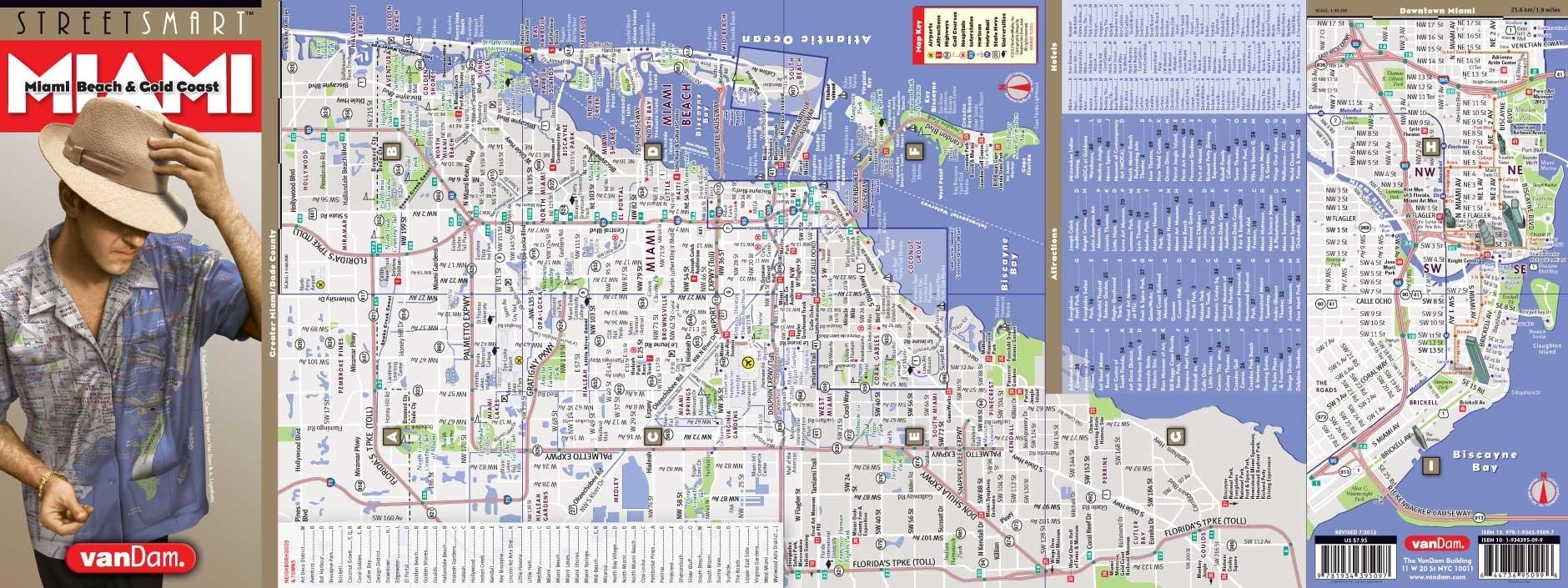 Miami Mapvandam   Miami Streetsmart Map   City Street throughout Miami Beach Road Map