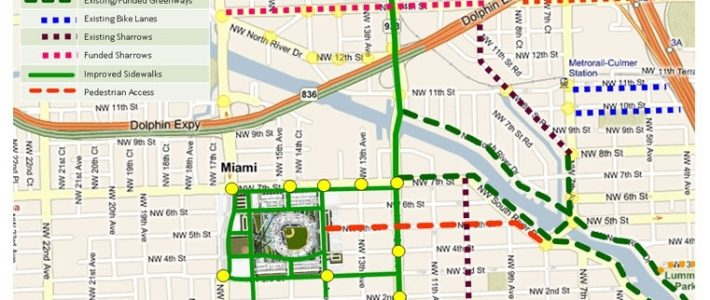 Miami Marlins - Pedestrian And Bicycle Traffic | The Miami with Miami Beach Bike Lane Map