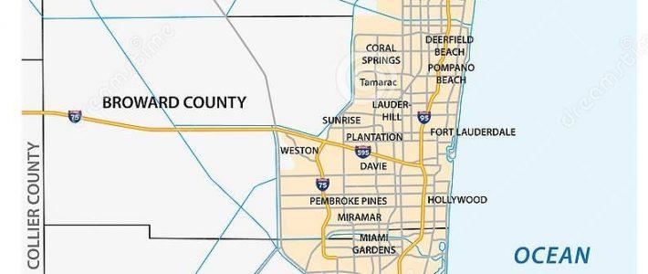 Miami Metropolitan Area Or Greater Miami Area Map Stock with Map Of Miami And Surrounding Areas