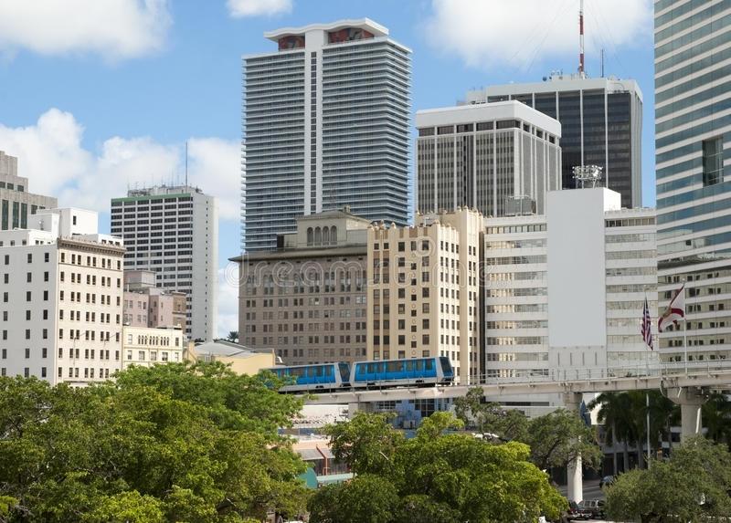 Miami Public Transportation Stock Photo - Image Of Miami pertaining to Miami Beach Monorail Map