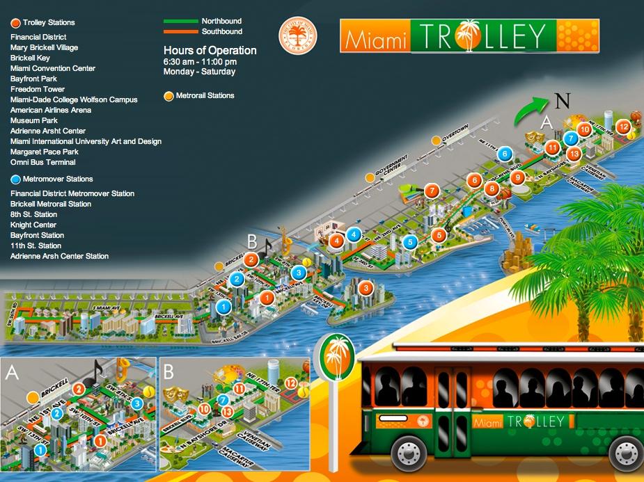 Miami Riches Real Estate Blog: Miami-Dade Trolley throughout Miami Beach Trolley Bus Map