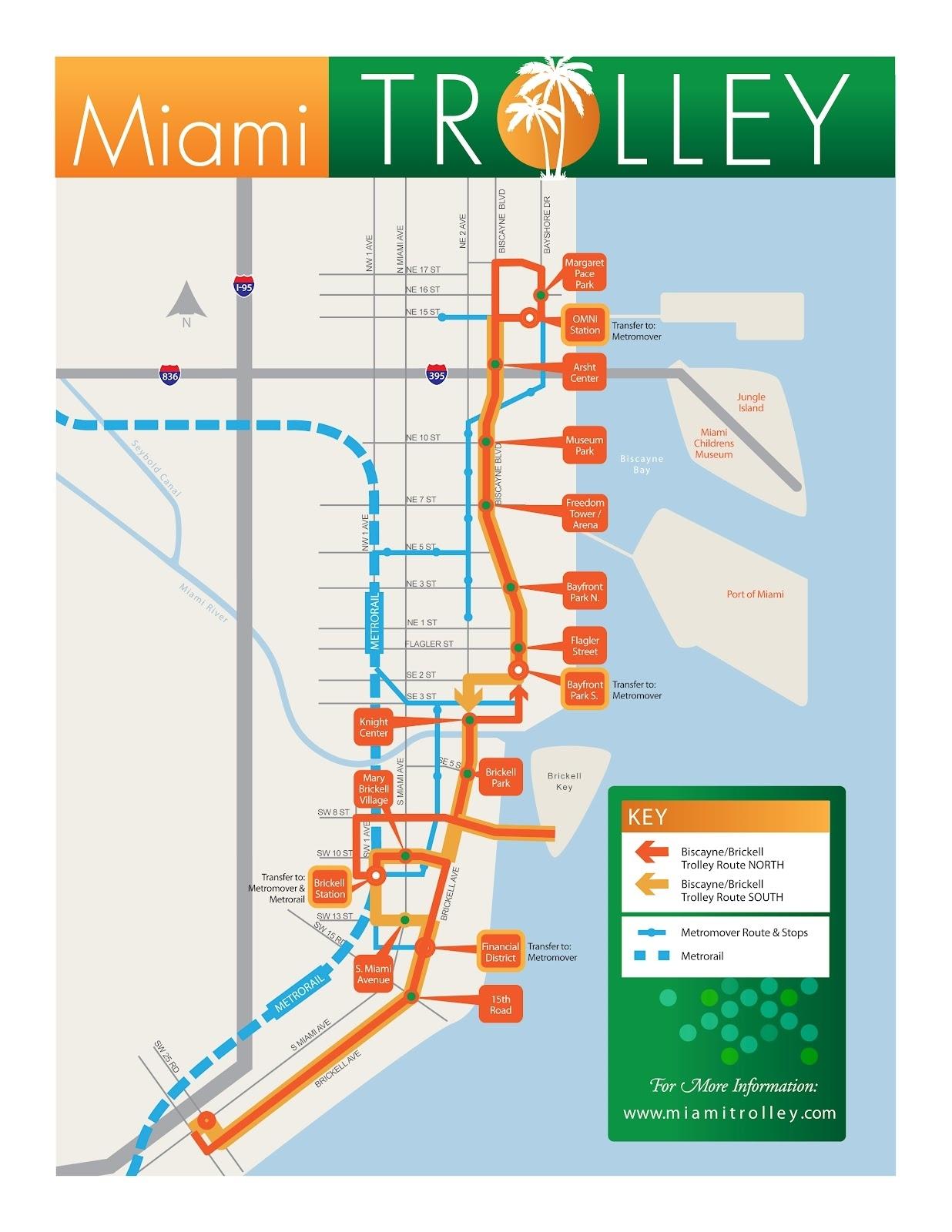 Miami Riches Real Estate Blog: Miami-Dade Trolley within Miami Dade Public Transportation Map